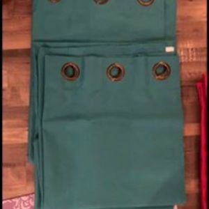 Other - Teal black out curtains 84 inch long ..2 panels